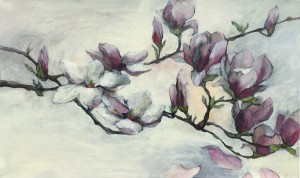 A Branch of Magnolia-60x100-2017