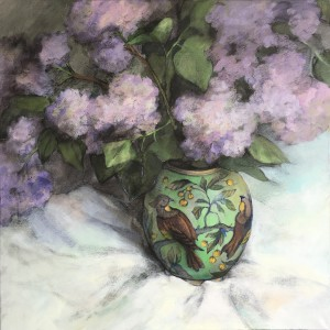 Lilac in chinese vase-70x70-2016